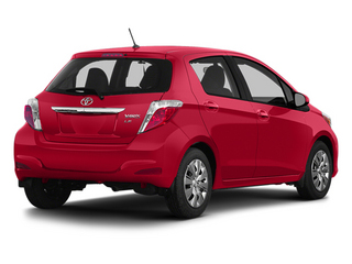 Absolutely Red 2014 Toyota Yaris Pictures Yaris Hatchback 5D SE I4 photos rear view