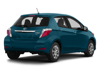 Lagoon Blue Mica 2014 Toyota Yaris Pictures Yaris Hatchback 5D SE I4 photos rear view