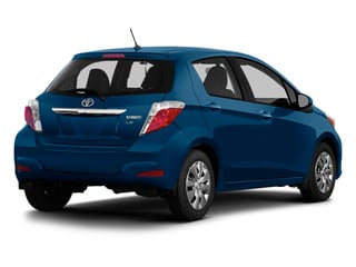 Blazing Blue Pearl 2014 Toyota Yaris Pictures Yaris Hatchback 5D SE I4 photos rear view