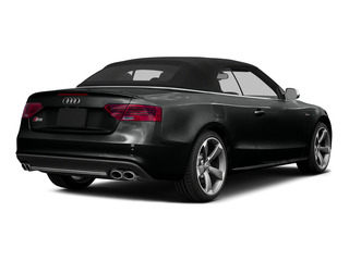 Mythos Black Metallic/Black Roof 2015 Audi S5 Pictures S5 Convertible 2D S5 Prestige AWD photos rear view