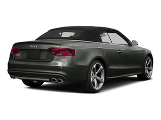Daytona Gray Pearl Effect/Black Roof 2015 Audi S5 Pictures S5 Convertible 2D S5 Prestige AWD photos rear view