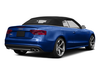 Sepang Blue Pearl Effect/Black Roof 2015 Audi S5 Pictures S5 Convertible 2D S5 Prestige AWD photos rear view