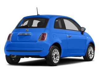 Laser Blu (Bright Met. Blue) 2015 FIAT 500 Pictures 500 Hatchback 3D Sport I4 photos rear view