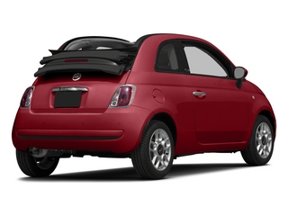 Rosso (Red) 2015 FIAT 500c Pictures 500c Convertible 2D Pop I4 photos rear view