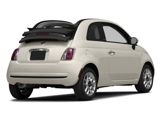 Bianco (White) 2015 FIAT 500c Pictures 500c Convertible 2D Lounge I4 photos rear view