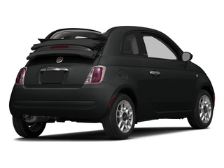 Nero Puro (Straight Black) 2015 FIAT 500c Pictures 500c Convertible 2D Lounge I4 photos rear view