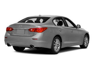 Liquid Platinum 2015 INFINITI Q50 Pictures Q50 Sedan 4D Premium V6 Hybrid photos rear view