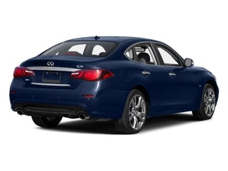 Hermosa Blue 2015 INFINITI Q70 Pictures Q70 Sedan 4D AWD V8 photos rear view