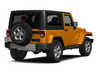Sunset Orange Pearlcoat 2015 Jeep Wrangler Pictures Wrangler Utility 2D Sahara 4WD V6 photos rear view