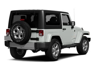 Bright White Clearcoat 2015 Jeep Wrangler Pictures Wrangler Utility 2D Sahara 4WD V6 photos rear view