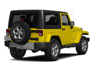 Baja Yellow Clearcoat 2015 Jeep Wrangler Pictures Wrangler Utility 2D Sahara 4WD V6 photos rear view