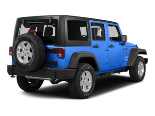 Hydro Blue Pearl Coat 2015 Jeep Wrangler Unlimited Pictures Wrangler Unlimited Utility 4D Unlimited Rubicon 4WD V6 photos rear view