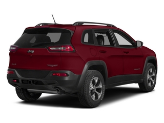 Deep Cherry Red Crystal Pearlcoat 2015 Jeep Cherokee Pictures Cherokee Utility 4D Trailhawk 4WD photos rear view