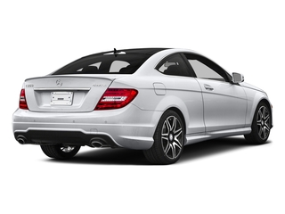 Polar White 2015 Mercedes-Benz C-Class Pictures C-Class Coupe 2D C350 V6 photos rear view