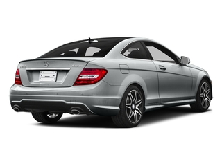 Iridium Silver Metallic 2015 Mercedes-Benz C-Class Pictures C-Class Coupe 2D C350 V6 photos rear view