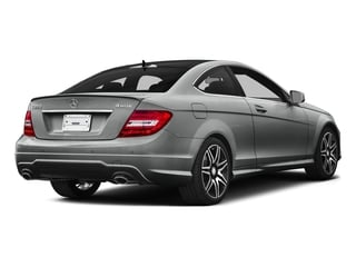 Palladium Silver Metallic 2015 Mercedes-Benz C-Class Pictures C-Class Coupe 2D C350 V6 photos rear view