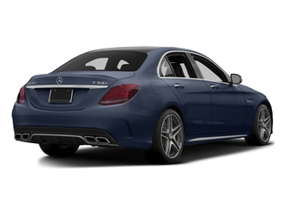 Lunar Blue Metallic 2015 Mercedes-Benz C-Class Pictures C-Class Sedan 4D C63 AMG V8 Turbo photos rear view