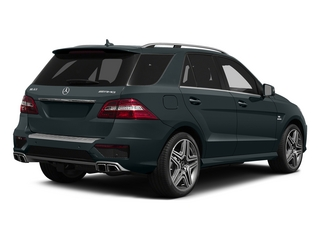 Steel Gray Metallic 2015 Mercedes-Benz M-Class Pictures M-Class Utility 4D ML63 AMG AWD V8 photos rear view