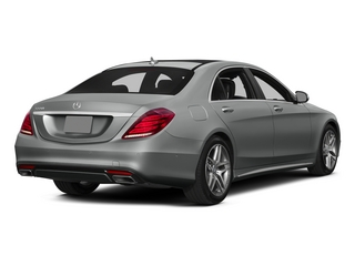 Palladium Silver Metallic 2015 Mercedes-Benz S-Class Pictures S-Class Sedan 4D S550 AWD V8 photos rear view