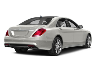 designo Magno Cashmere White (Matte Finish) 2015 Mercedes-Benz S-Class Pictures S-Class Sedan 4D S63 AMG AWD V8 Turbo photos rear view