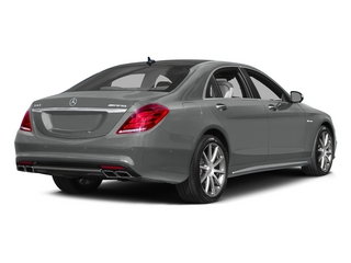 Palladium Silver Metallic 2015 Mercedes-Benz S-Class Pictures S-Class Sedan 4D S63 AMG AWD V8 Turbo photos rear view