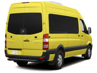 Calcite Yellow 2015 Mercedes-Benz Sprinter Passenger Vans Pictures Sprinter Passenger Vans Passenger Van High Roof 4WD photos rear view