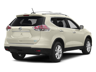 Pearl White 2015 Nissan Rogue Pictures Rogue Utility 4D SV AWD I4 photos rear view