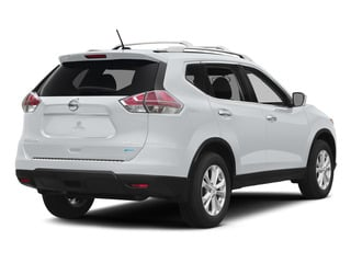 Glacier White 2015 Nissan Rogue Pictures Rogue Utility 4D SV AWD I4 photos rear view