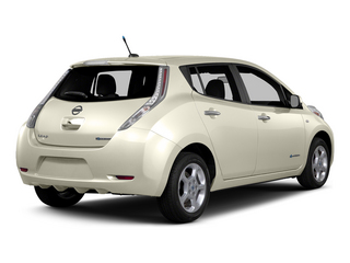 Pearl White 2015 Nissan LEAF Pictures LEAF Hatchback 5D SV Electric photos rear view