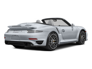 Rhodium Silver Metallic 2015 Porsche 911 Pictures 911 Cabriolet 2D S AWD H6 Turbo photos rear view
