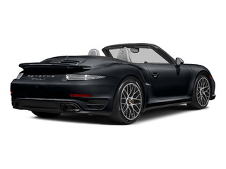 Basalt Black Metallic 2015 Porsche 911 Pictures 911 Cabriolet 2D S AWD H6 Turbo photos rear view