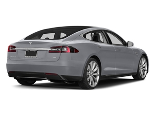 Silver Metallic 2015 Tesla Motors Model S Pictures Model S Sedan 4D D AWD Electric photos rear view