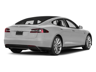 Pearl White Multi-Coat 2015 Tesla Motors Model S Pictures Model S Sedan 4D D AWD Electric photos rear view