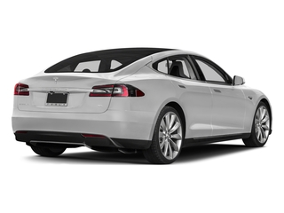 Solid White 2015 Tesla Motors Model S Pictures Model S Sedan 4D D AWD Electric photos rear view