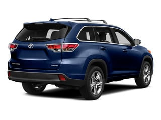 Nautical Blue Metallic 2015 Toyota Highlander Pictures Highlander Utility 4D LE 2WD I4 photos rear view