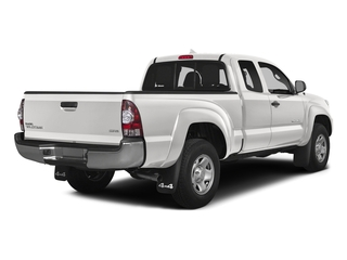 Super White 2015 Toyota Tacoma Pictures Tacoma Base Access Cab 4WD V6 photos rear view
