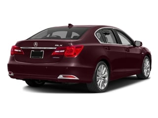 Pomegranate Pearl 2016 Acura RLX Pictures RLX Sedan 4D Advance AWD V6 Hybrid photos rear view