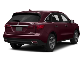 Dark Cherry Pearl 2016 Acura MDX Pictures MDX Utility 4D AWD V6 photos rear view