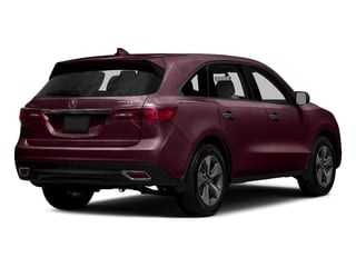 Dark Cherry Pearl 2016 Acura MDX Pictures MDX Utility 4D 2WD V6 photos rear view