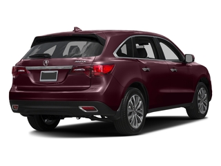 Dark Cherry Pearl 2016 Acura MDX Pictures MDX Utility 4D Technology DVD 2WD V6 photos rear view