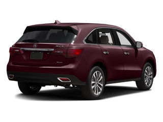 Dark Cherry Pearl 2016 Acura MDX Pictures MDX Utility 4D Technology AWD V6 photos rear view