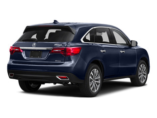 Fathom Blue Pearl 2016 Acura MDX Pictures MDX Utility 4D Technology DVD AWD V6 photos rear view