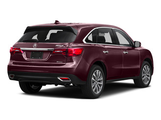 Dark Cherry Pearl 2016 Acura MDX Pictures MDX Utility 4D Technology DVD AWD V6 photos rear view