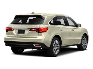 White Diamond Pearl 2016 Acura MDX Pictures MDX Utility 4D Technology DVD AWD V6 photos rear view
