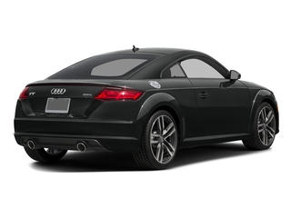Mythos Black Metallic 2016 Audi TT Pictures TT Coupe 2D AWD photos rear view
