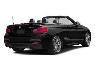 Black Sapphire Metallic 2016 BMW 2 Series Pictures 2 Series Convertible 2D M235i I6 Turbo photos rear view