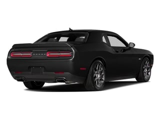 Pitch Black Clearcoat 2016 Dodge Challenger Pictures Challenger Coupe 2D R/T Plus V8 photos rear view