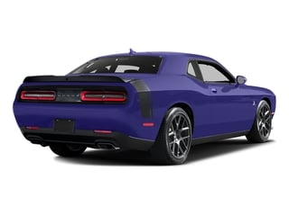 Plum Crazy Pearlcoat 2016 Dodge Challenger Pictures Challenger Coupe 2D R/T Scat Pack V8 photos rear view