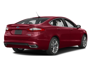 Ruby Red Metallic Tinted Clearcoat 2016 Ford Fusion Pictures Fusion Sedan 4D Titanium AWD I4 Turbo photos rear view