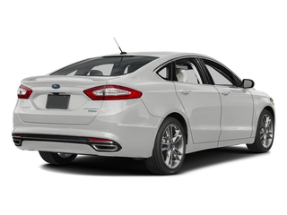 White Platinum Metallic Tri-Coat 2016 Ford Fusion Pictures Fusion Sedan 4D Titanium AWD I4 Turbo photos rear view